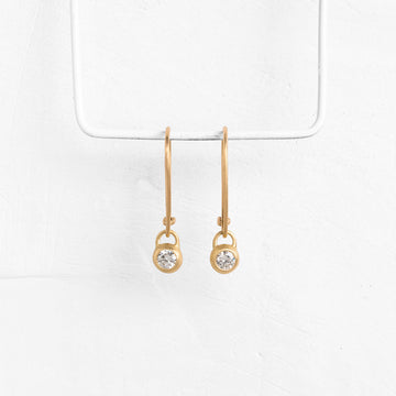 Diamond Donut Pendant Earrings