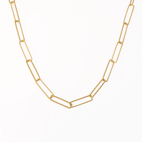 Rectangle Links Necklace 22""