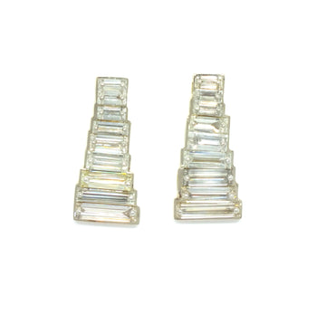Tapered Baguette Pin-Sets Earrings