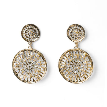 Double Diamond Pinwheel Earrings