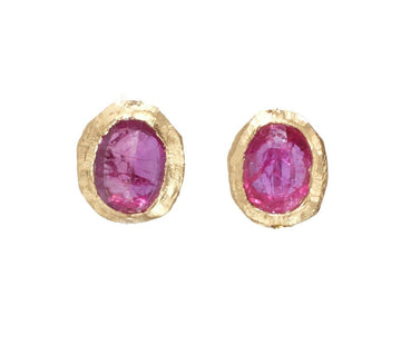 Ruby Post Earrings