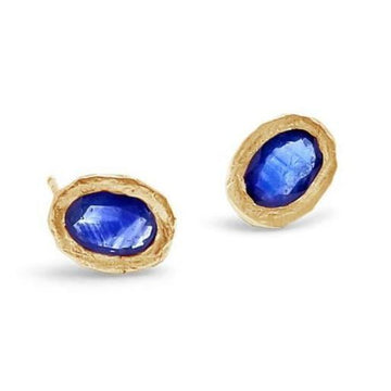Blue Sapphire Post Earrings