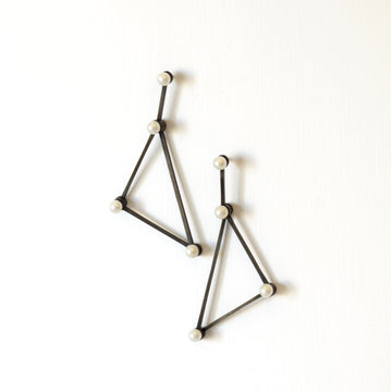 Silver Lucy Tri Earring