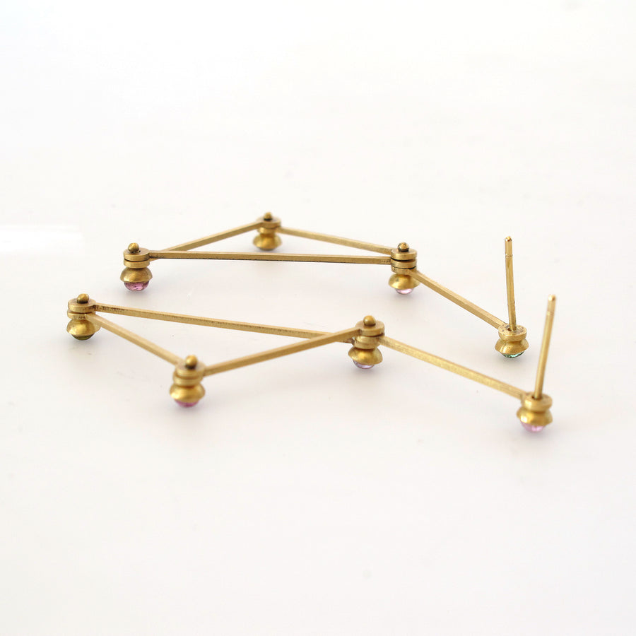 Gold Lucy Tri Earring