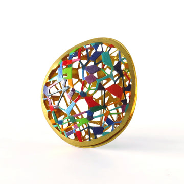 Oval Doodle Brooch