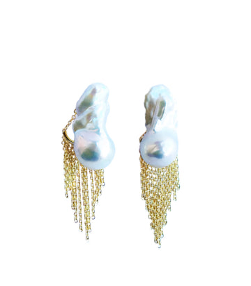 Charly Earrings with Chain Earring Backs