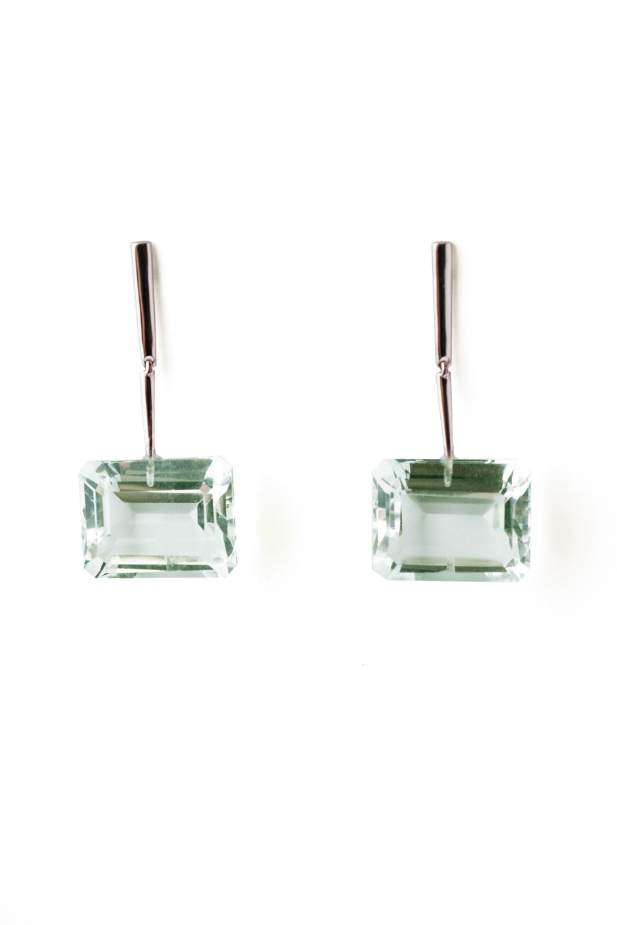 Reverse Georgette Earrings with Green Amethyst