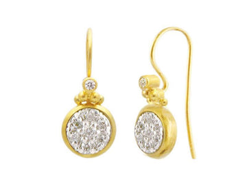 Droplet Gold Diamond Drop Earrings