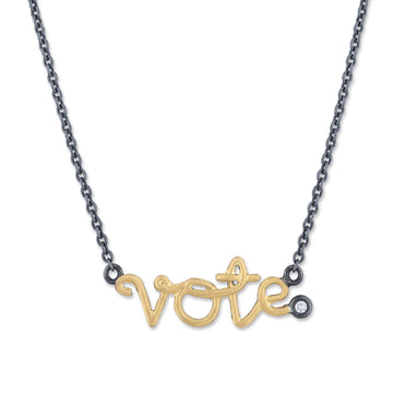 Vote Necklace- Gold