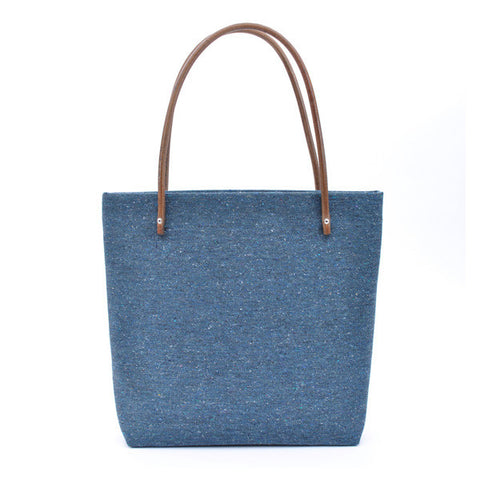 Large Tote - Blue Tweed