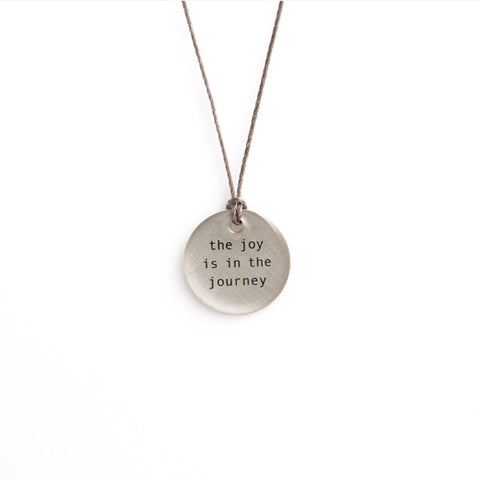 Silver Pendant Necklace - the joy is in...