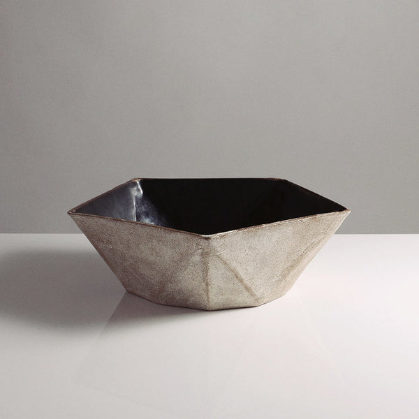 Large Faceted Bowl