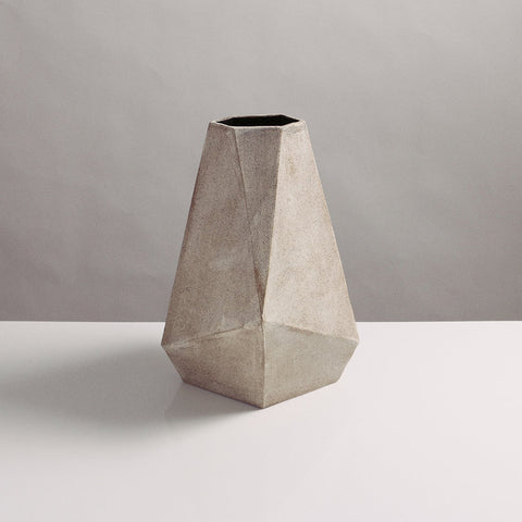 Faceted taper vase