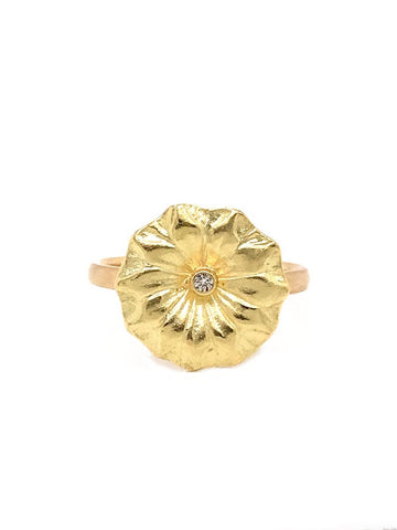 Lotus Leaf Diamond Ring
