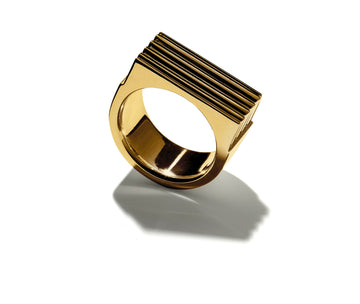 gold signature ring