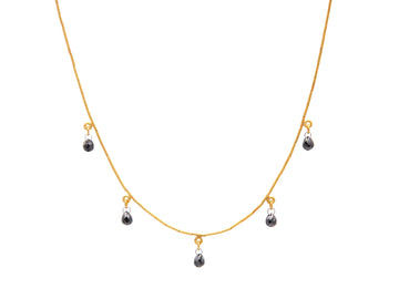 Dew Diamond Briolette Necklace