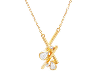 Mikado Gold Pendant Necklace Small