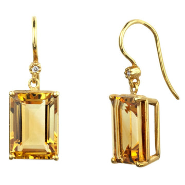 Gwyneth Citrine Earrings