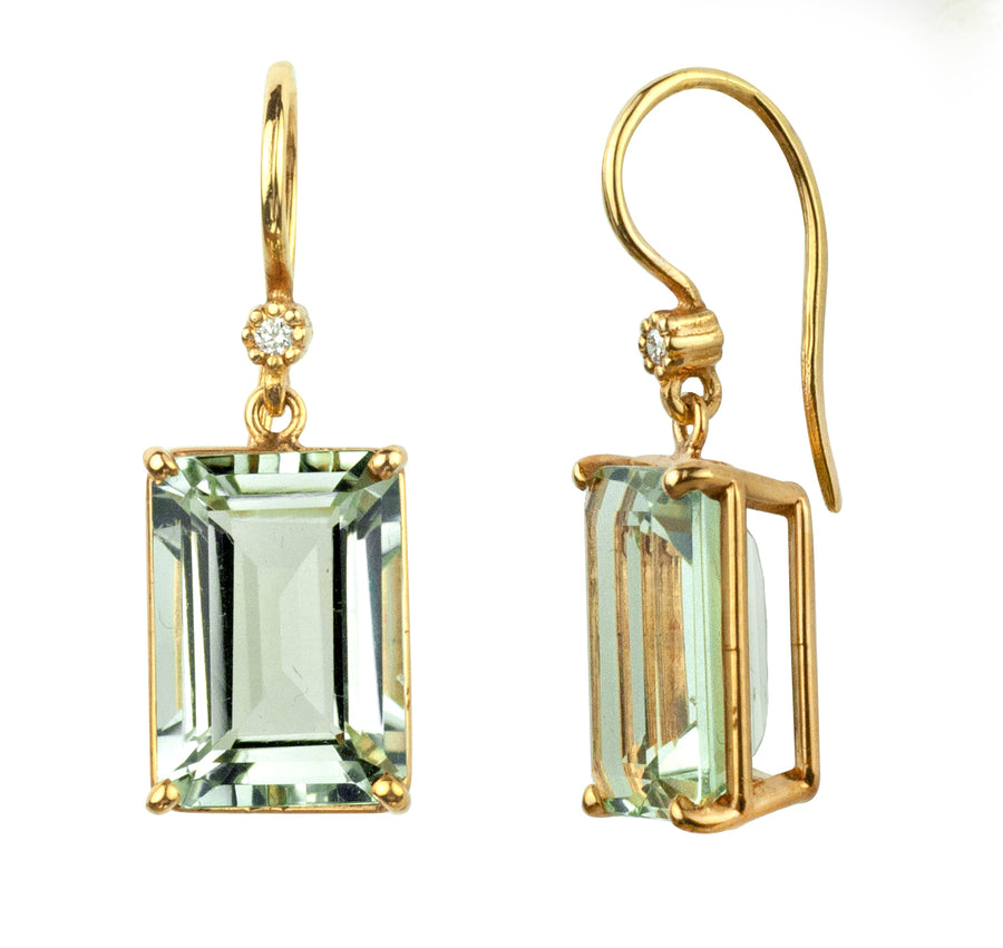 Gwyneth Green Amethyst Earrings