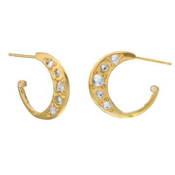 Small Crescent Hoop 14K Gold Earring