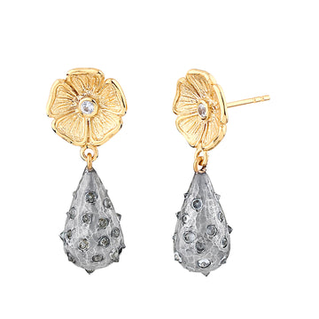 Grand Primrose Polka Dot Spike Drop Earring