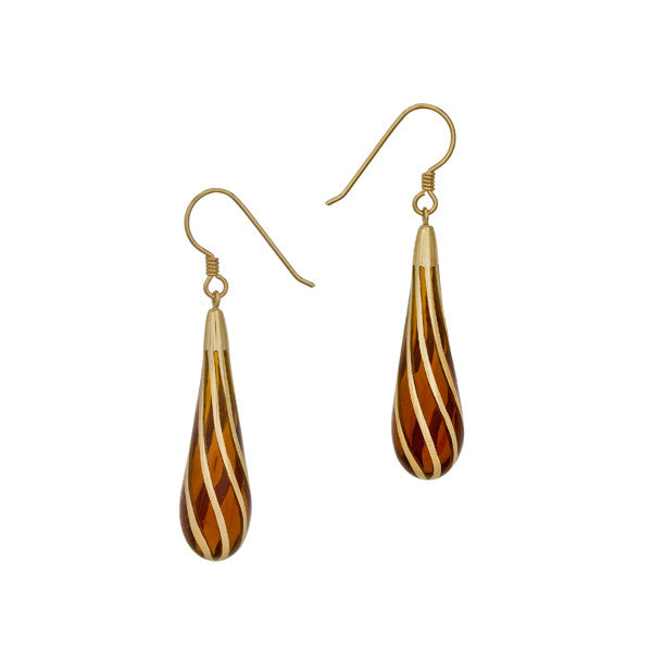 Gold Long Drop Earrings