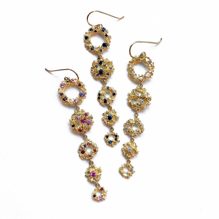 Galaxy Earrings with White Diamonds