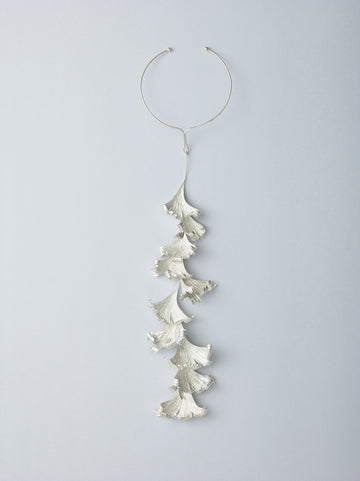 Late Fall Leaf Long Necklace