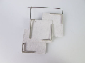 """FRAGMENTS OF WHITE"" Reversible Brooch"