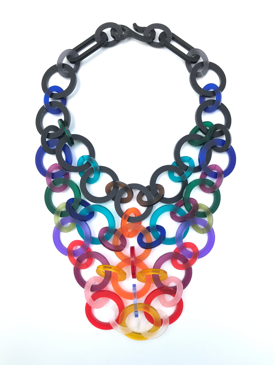 4-Strand Circle Statement Necklace