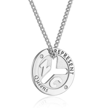 NYC Represent Token Necklace - Queens