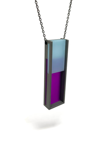 Rectangular Color Necklace