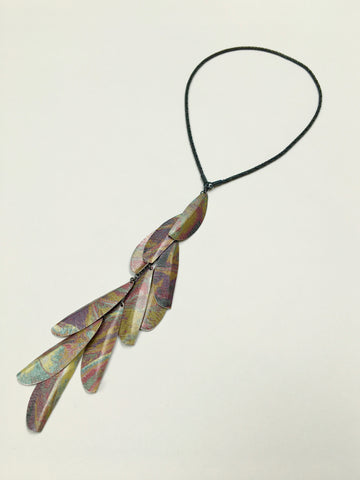 Ochre Three Way Necklace with 10 Leaves
