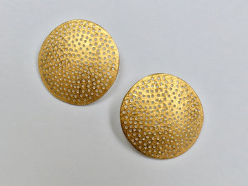 Large Disc Ear Studs with Holes