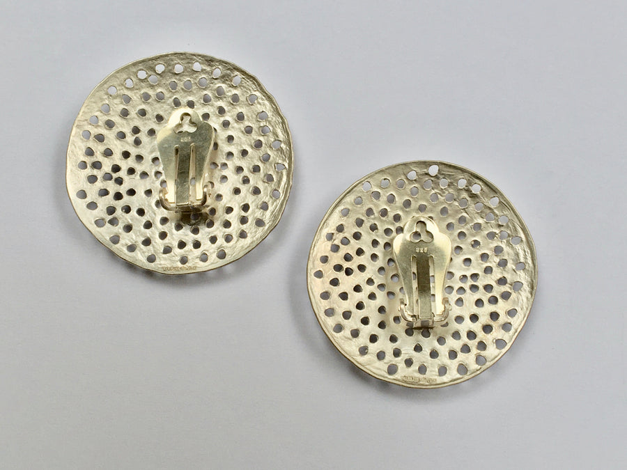 Large Disc Ear Clips with Holes