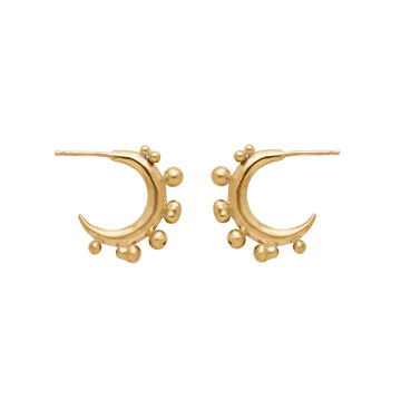 Ore Crescent Bronze Hoop Earrings
