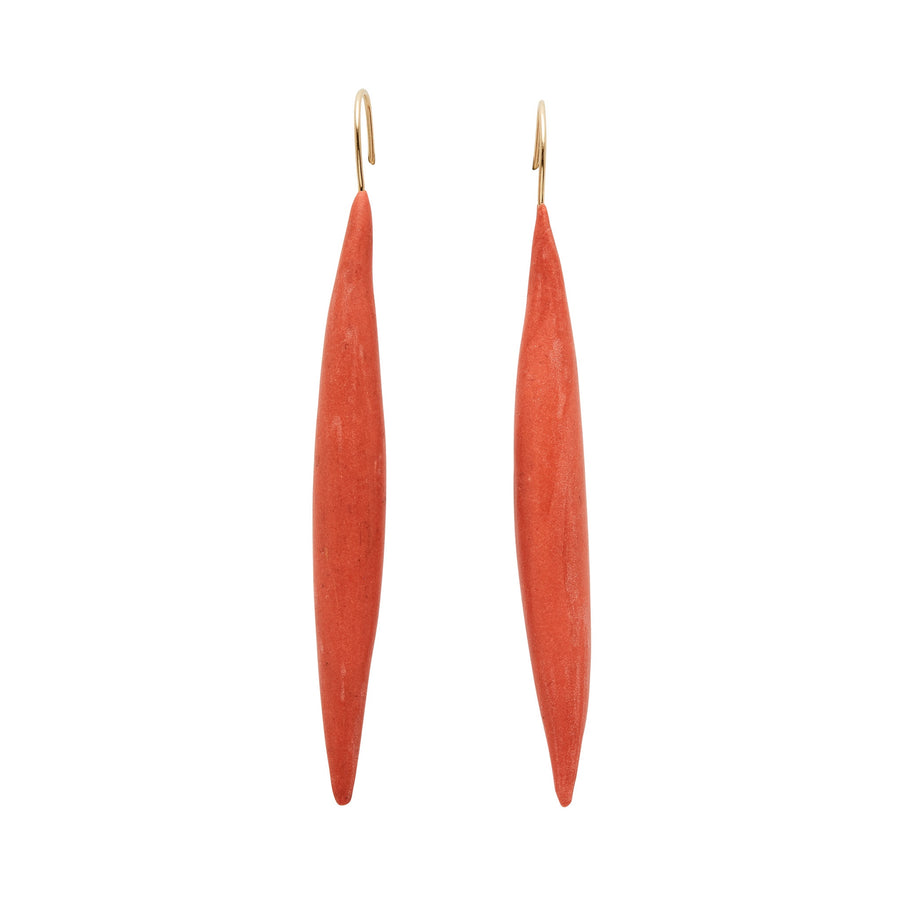 Spike Persimmon Clay Earring