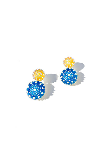 Sun and Ocean Double Drop Earrings