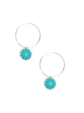 Sun Light Hoop Earrings