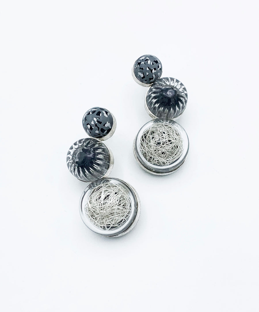 3 Dome Curve Earring