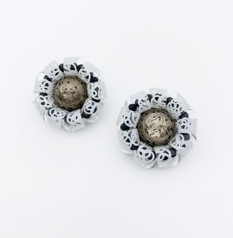 Large Cup Circle Clip Earrings