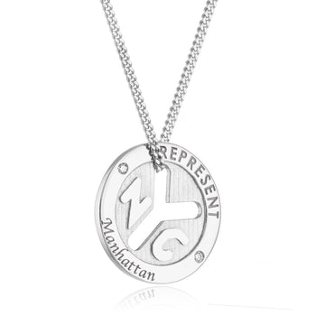 NYC Represent Token Necklace - Manhattan