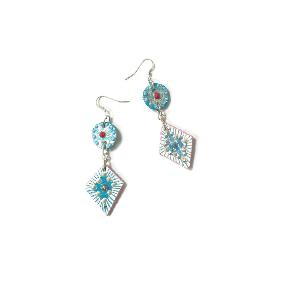 Small Double Drop Earrings