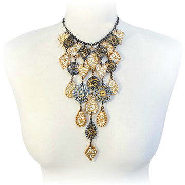 Dark and Gold Necklace