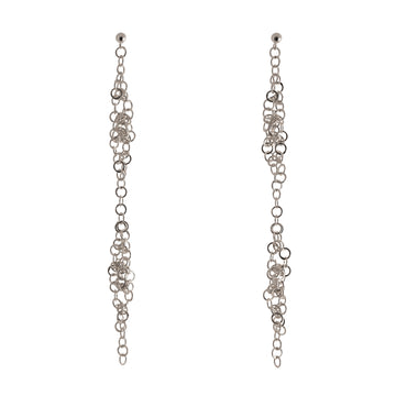 Darrow Double Cluster Earrings- Silver