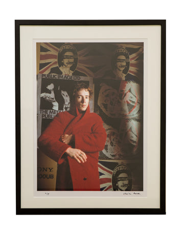 Framed Johnny Rotten Photograph