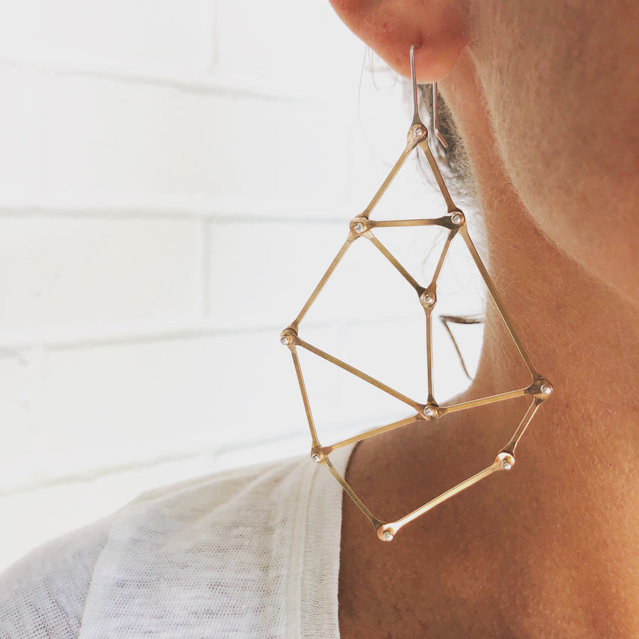 Bold Golden Geo Earrings