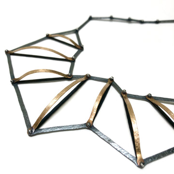 Dimensional Ladder Necklace