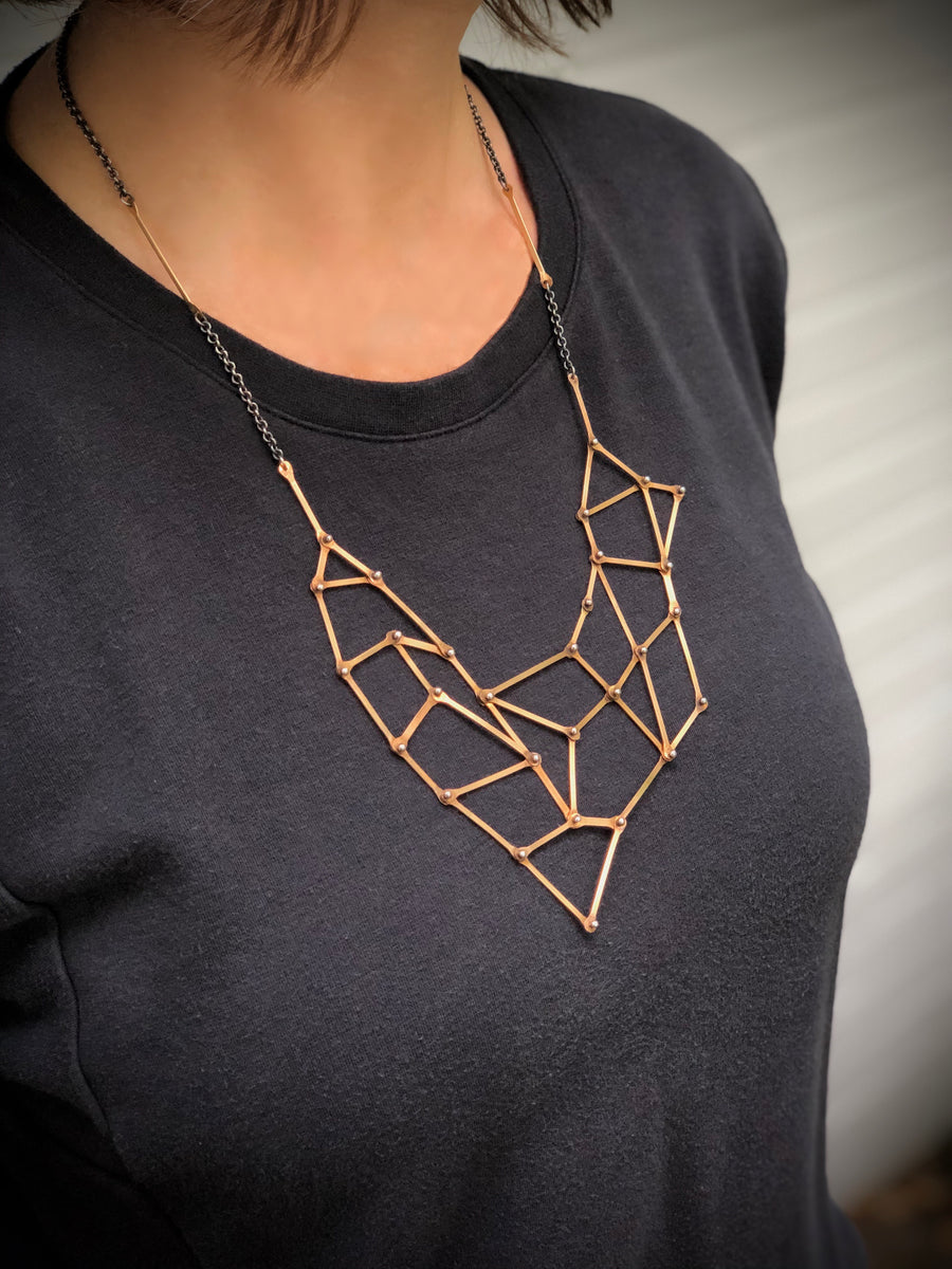 Golden Geo Necklace
