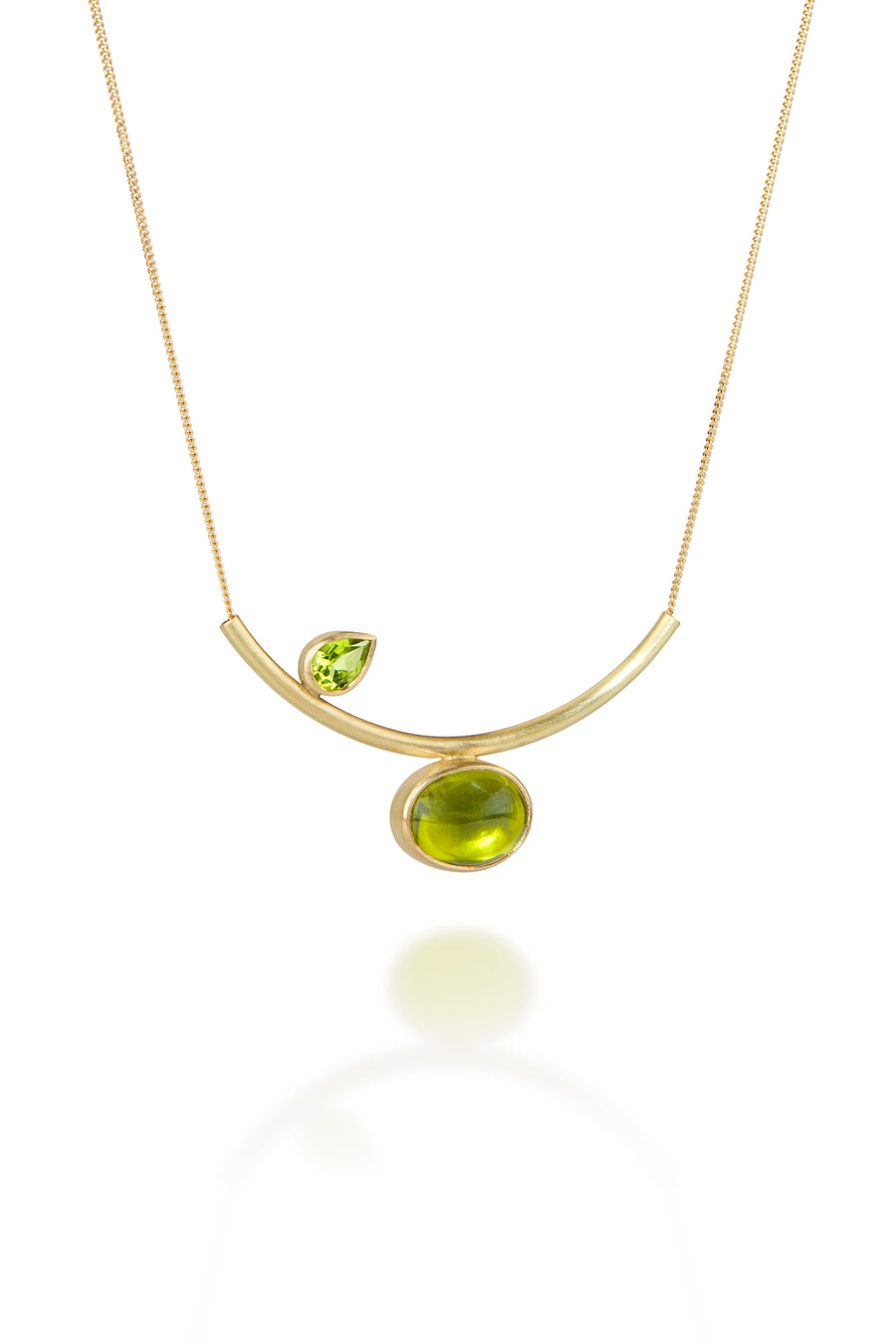 Peridot Curve Pendant Necklace